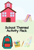 Print and Go School Themed Activity Pack for Preschool