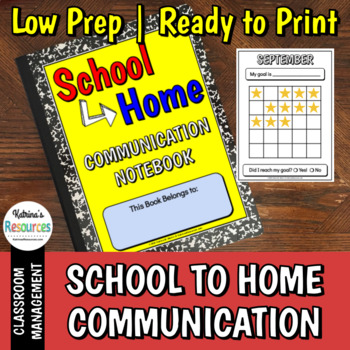 School to Home Communication Notebook