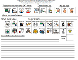 School to Home Communication Sheet