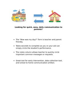 School to Home Daily Communication