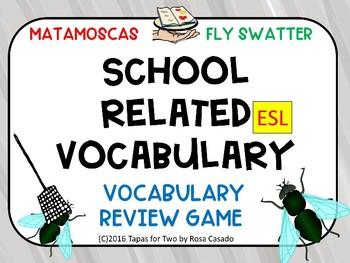 School vocabulary Flyswatter game