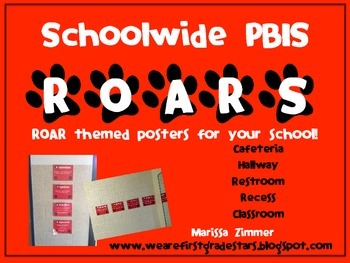 EDITABLE School-wide PBIS ROAR posters