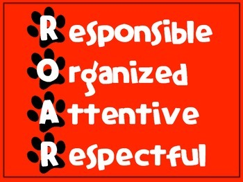 EDITABLE School-wide PBIS ROAR posters