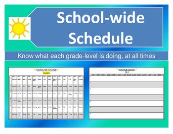 School-wide Schedule for Service Providers / Administrators