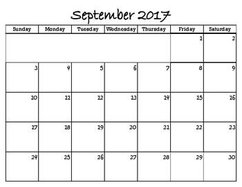 School year Calendar 17-18 not editable