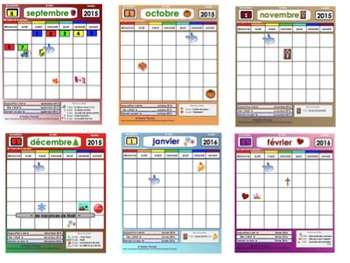 UPDATED: School year monthly calendars 2016-2017