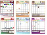 UPDATED: School year monthly calendars 2017-2018