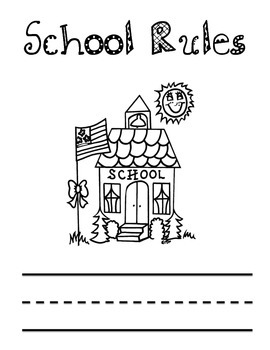 School/Classroom Rules Activity Book