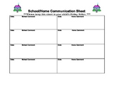 School/Home Communication Sheet