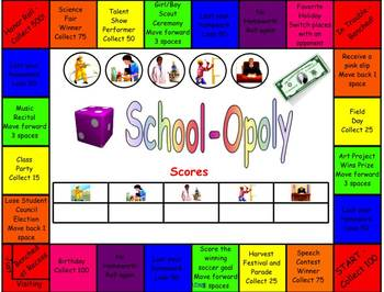 SchoolOpoly (Review Game for Any Subject)