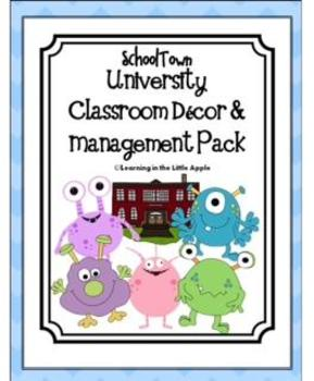 SchoolTown University Classroom Decor and Management Pack