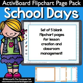 Schooldays ActivBoard Flipchart Page Pack