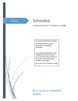 Schooled- Gordan Korman Teacher's Guide