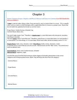 Schooled Novel Unit Plus Grammar