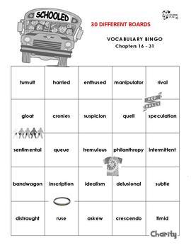 Schooled Vocabulary Bingo