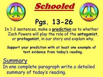 Schooled by Gordon Korman Reading Response Questions