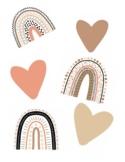 Schoolgirl Style - Simply Stylish Boho Rainbow Heart and R