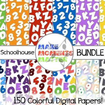Schoolhouse BUNDLE  --  A Digital Paper Pack!