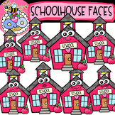 Schoolhouse Faces: Back-to-School Clipart {DobiBee Designs}
