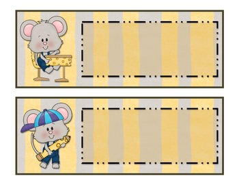 Schoolhouse Mouse Classroom Signs Set