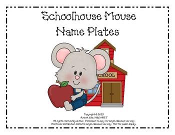 Schoolhouse Mouse Desk Name Set