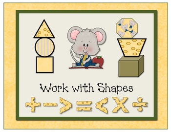 Schoolhouse Mouse Mathematicians Workshop Sign Set