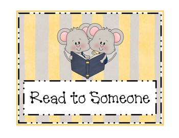 Schoolhouse Mouse Readers Workshop Sign Set