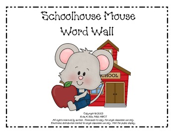 Schoolhouse Mouse Word Wall Set