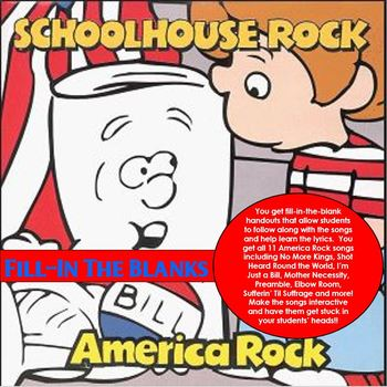 Schoolhouse Rock America Rock Fill-In the Blanks