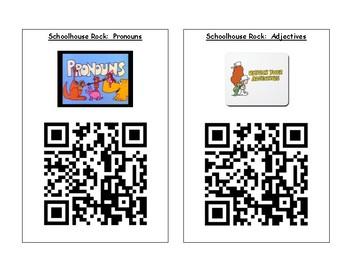 Schoolhouse Rock Grammar Rock QR Codes