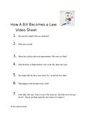Schoolhouse Rock: How A Bill Becomes a Law Video Worksheet