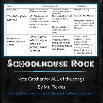 Schoolhouse Rock notes - Grammar, America, Science, and Mu