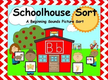Schoolhouse Sort: A Beginning Sounds Picture Sort (Center)
