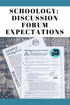 Schoology/Online Discussion Expectations