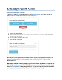 Schoology Parent Access Handout