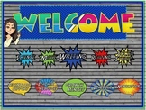 Schoology Superhero Welcome Banners and Buttons