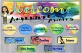 Schoology Watercolor Welcome Banners and Buttons