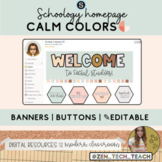 Schoology homepage theme (banners & buttons) - Calm colors - ✎Editable