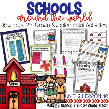 Schools Around the World 2nd Grade Supplemental Activities