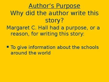 Schools Around the World - Genre & Purpose