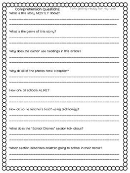 Schools Around the World Journeys 2nd Grade (Unit 3 Lesson 13)