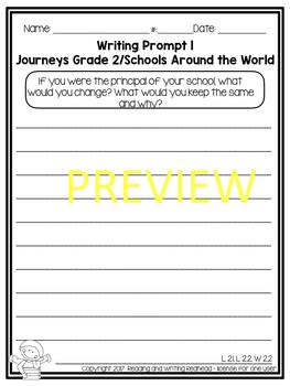 Schools Around the World - Journeys Second Grade Week 13