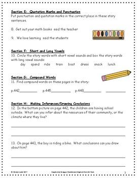 Schools Around the World ~ Language Arts Workbook ~ 2nd Grade ~ Journeys