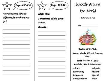 Schools Around the World Trifold - Journeys 2nd Grade Unit 3 Week 3 (2014, 2017)