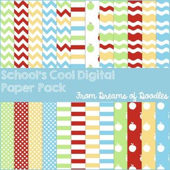 School's Cool Digital Paper Pack