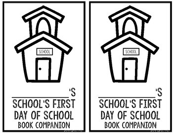 Schools First Day of School Book Companion and Class or School Rules Lesson
