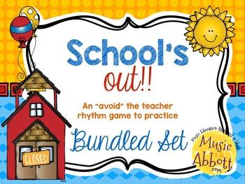 """School's Out! An """"Avoid The Teacher"""" Rhythm Game {bundled set}"""