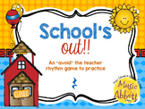 "School's Out! An ""Avoid The Teacher"" Rhythm Game {quarter rest}"
