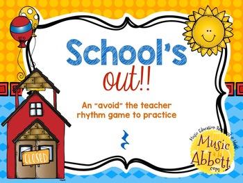 """School's Out! An """"Avoid The Teacher"""" Rhythm Game {quarter rest}"""