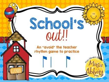 """School's Out! An """"Avoid The Teacher"""" Rhythm Game {syncopa/ti-ta-ti)"""